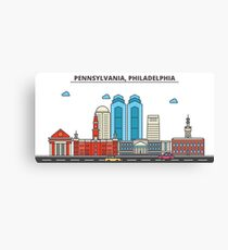 Pennsylvania - Philadelphia. Silhouette Skyline Canvas Print