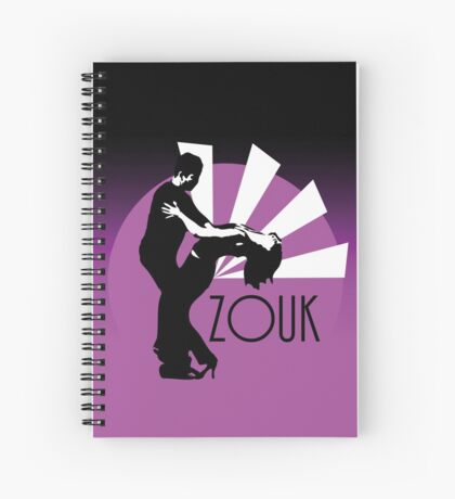 Time to zouk - pink Spiral Notebook