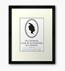 Downton Abbey Contrary Woman Framed Print