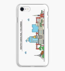 South California - Carolina. Silhouette Skyline iPhone Case/Skin