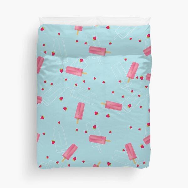 Strawberry ice-pop Duvet Cover