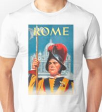 Rome, Guard, vintage travel poster T-Shirt