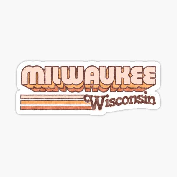 Milwaukee, WI   City Stripes Sticker