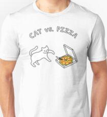 CAT vs. PIZZA Slim Fit T-Shirt