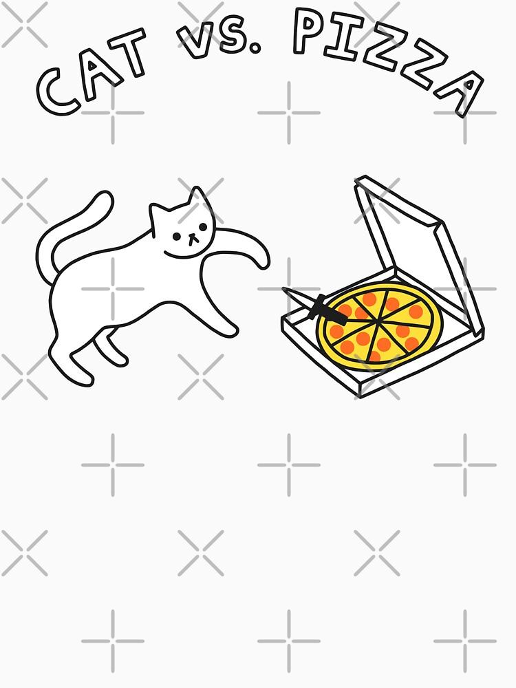 CAT vs. PIZZA by obinsun