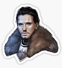 Jon Snow / The King in the North Sticker