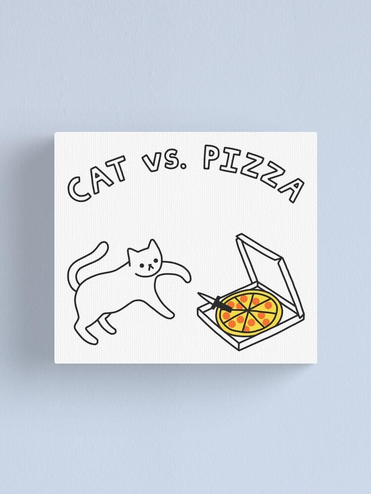 Alternate view of CAT vs. PIZZA Canvas Print