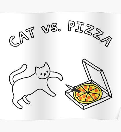 CAT vs. PIZZA Poster
