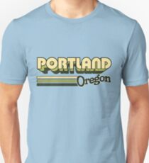 Portland, OR | City Stripes Unisex T-Shirt