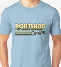 Camiseta ajustada Portland, OR | Rayas de la ciudad