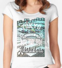 Akihabara Kart in Tokyo Japan like Mario Women's Fitted Scoop T-Shirt