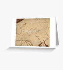 Pennsylvania Fantasy Map Greeting Card