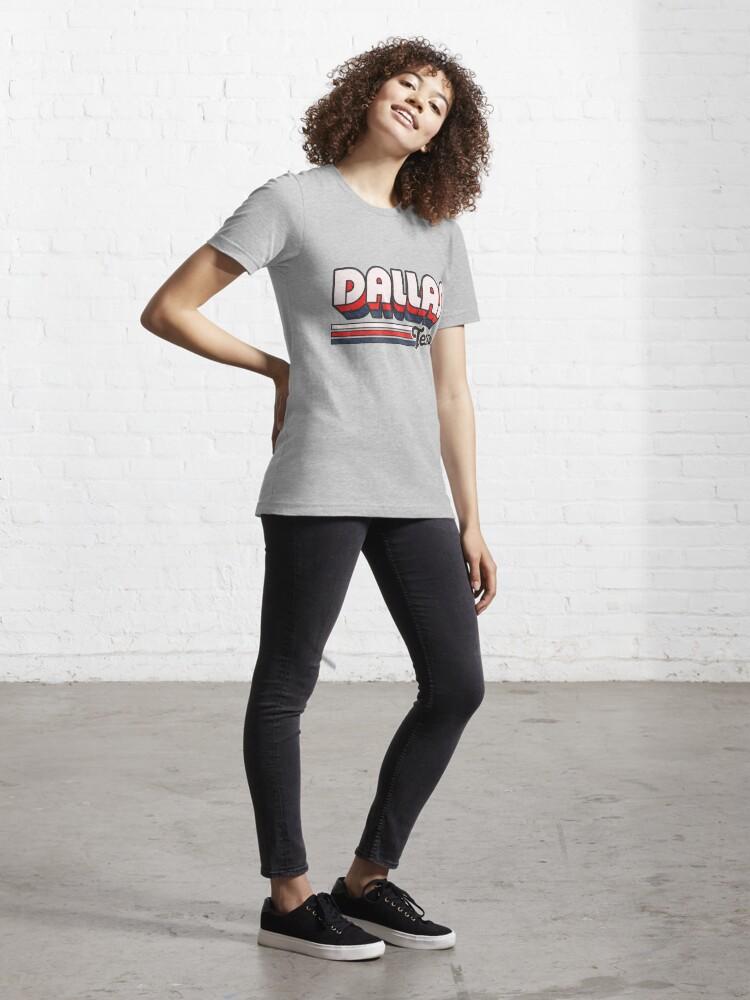 Alternate view of Dallas, TX | City Stripes Essential T-Shirt
