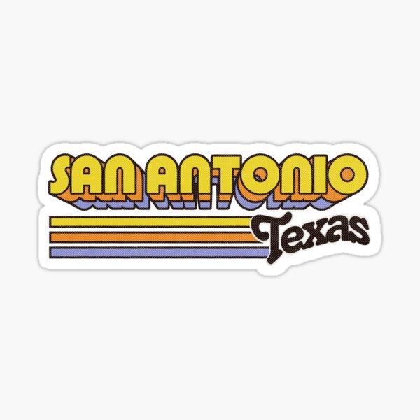 San Antonio, TX | City Stripes Sticker