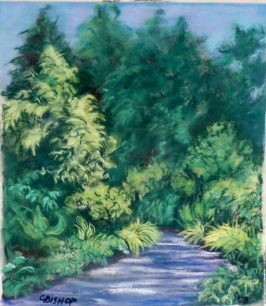Shadow Play on a Garden Path by Carolyn Bishop