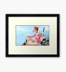 Bubblegum Girl Framed Print