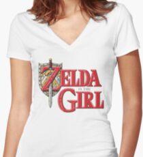 Zelda Love Girl Women's Fitted V-Neck T-Shirt