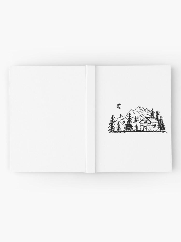 Alternative Ansicht von Hütte im Wald Notizbuch
