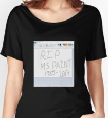 RIP MS Paint Women's Relaxed Fit T-Shirt