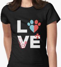 LOVE VET Women's Fitted T-Shirt