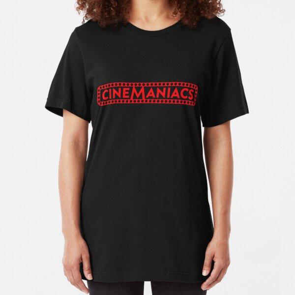 Cinemaniacs LOGO [on black] Slim Fit T-Shirt