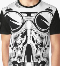 Steampunk vintage design vector drawing. gas mask punk respirator. Graphic T-Shirt