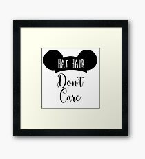 Hat Hair Framed Print