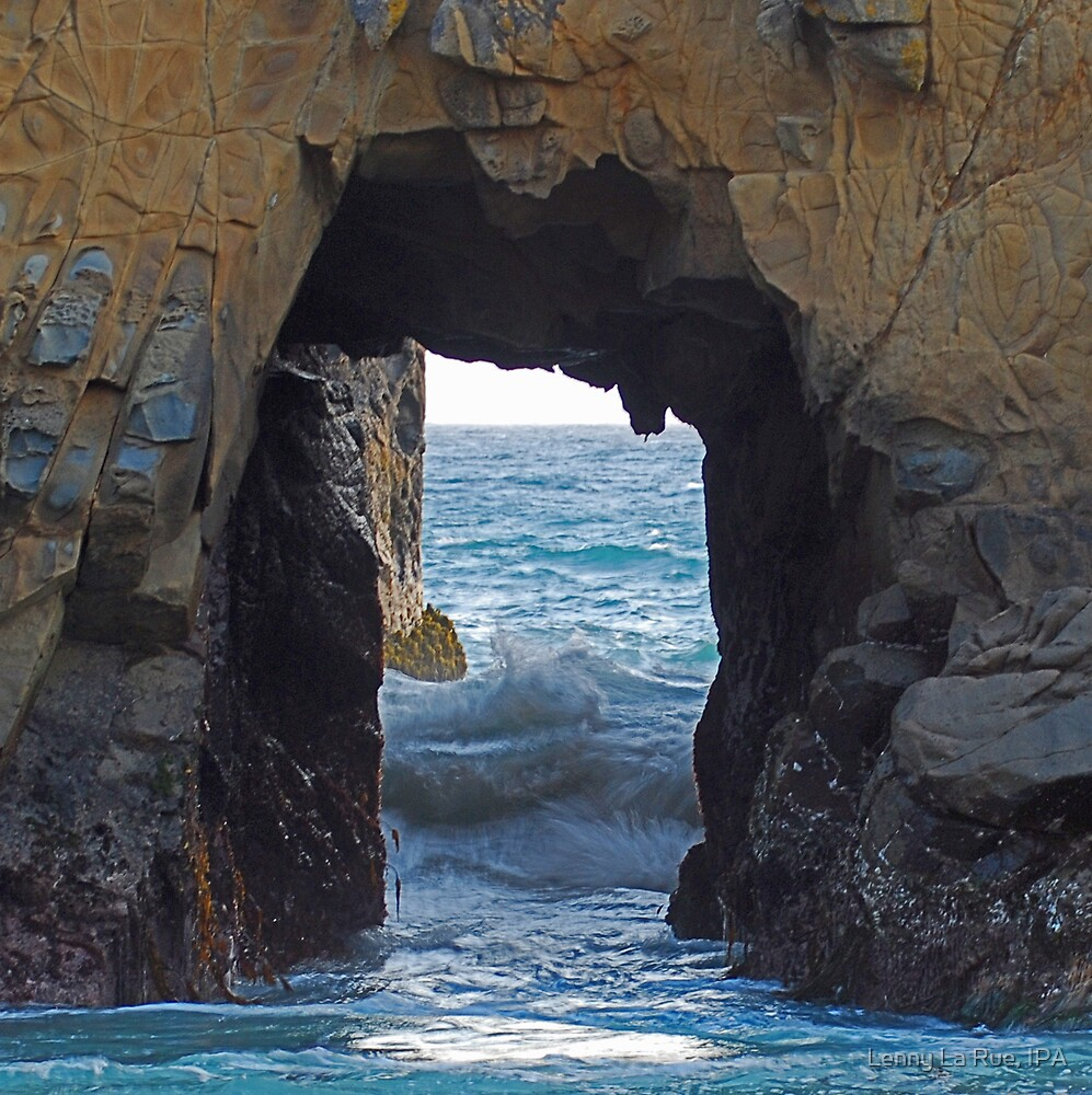incoming tide and the sea tunnel by Lenny La Rue, IPA