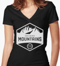 Matthew 17:20 - White Women's Fitted V-Neck T-Shirt