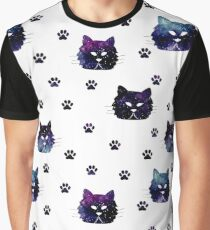 Small Cat's Footprints Graphic T-Shirt
