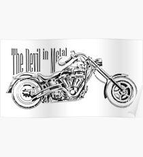 los angeles motorbike illustration tee shirt graphic design. Poster