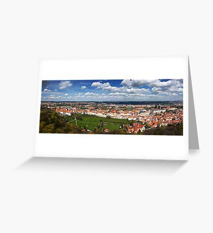 Prague Panorama Greeting Card