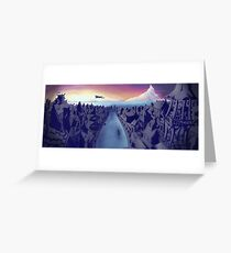 Lake Town Landscape Greeting Card