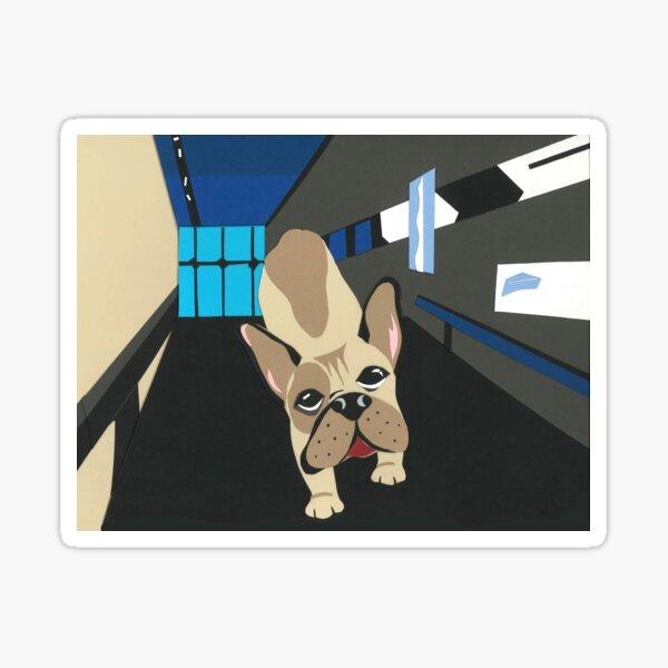 French Bulldog Running at Guthrie Sticker