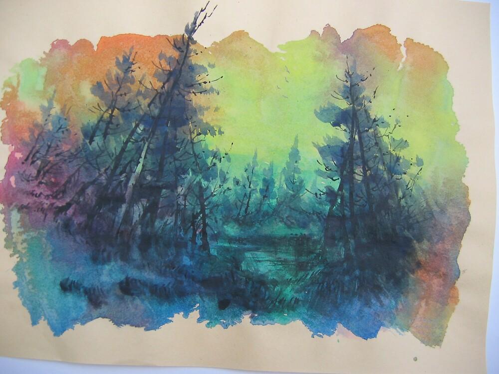 Blue green forest 2 by Jorge Garcia Posas