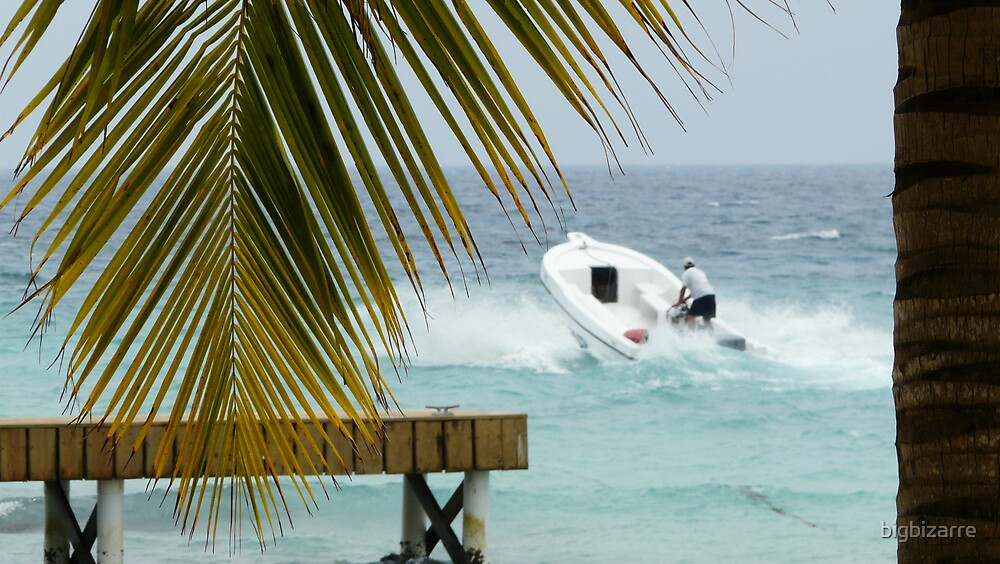 dominican speed boat by bigbizarre