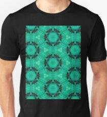 Mint Hexagons & Stars Pattern T-Shirt