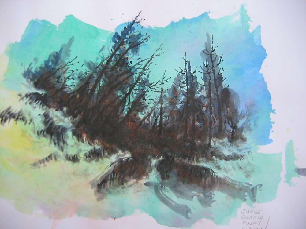 Green sky 1 by Jorge Garcia Posas