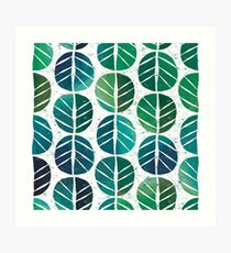 i love Green Leaf Art Print