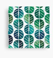 i love Green Leaf Canvas Print