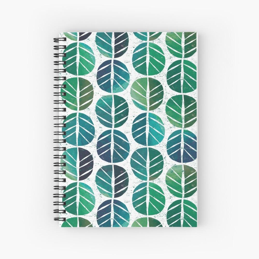i love Green Leaf Spiral Notebook