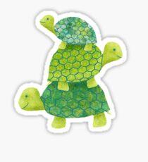 3 Turtle Stack Sticker