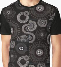 Black Flower Drops Graphic T-Shirt