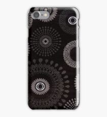 Black Flower Drops iPhone Case/Skin
