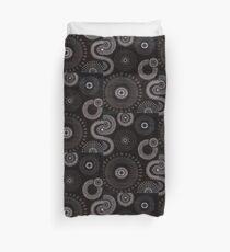 Black Flower Drops Duvet Cover