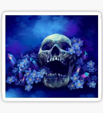 Skull and Forget-me-nots Sticker