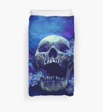 Skull and Forget-me-nots Duvet Cover