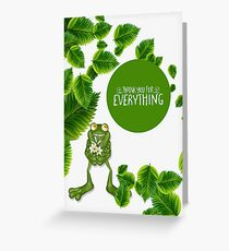 Cute Nature Inspired Frog Thank You Greeting Card