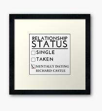 Mentally Dating Richard Castle Framed Print