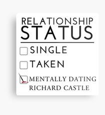 Mentally Dating Richard Castle Metal Print